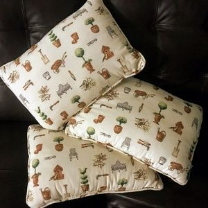 Other - Delightful Gardening-Themed Accent Pillows